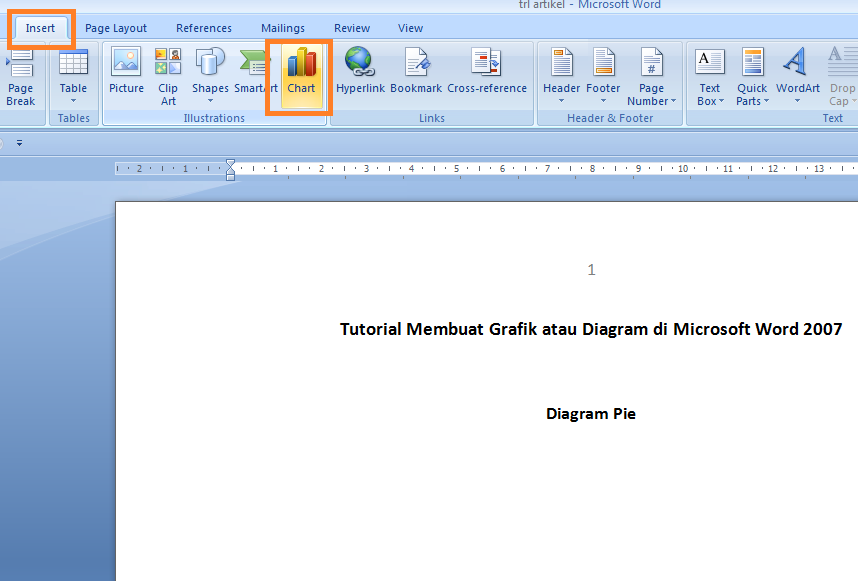 Tutorial Membuat Grafik atau Diagram di Microsoft Word 2007