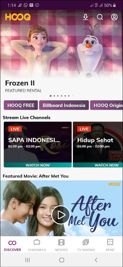Cara Download Film di HOOQ